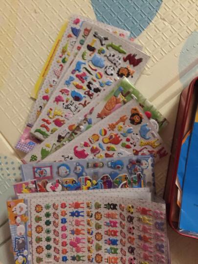 儿童卡通幼儿园奖励贴纸韩国小粘贴3d立体可爱泡泡贴装饰手机贴贴 CC--雨伞2张 晒单图