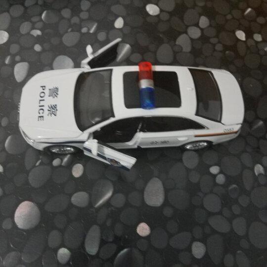 警车特警救护车声光回力开门合金儿童玩具模型金属车 防爆车-特警 晒单图