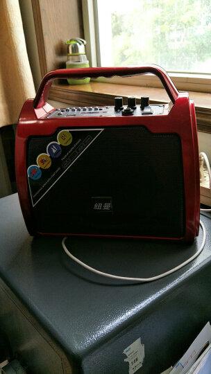 纽曼(Newmine)户外广场舞音响 便携插卡蓝牙音箱移动扩音器大功率锂电播放器低音炮语音播报 红色 麦克风优盘版 晒单图