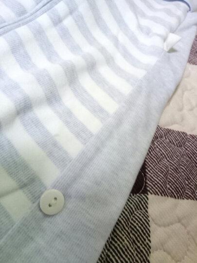 欧孕(OUYUN)婴儿睡袋春秋棉抱被一体睡袋宝宝防踢被儿童棉舒绒面料 浅蓝(双层不夹棉) M码(适合身高75-90cm) 晒单图
