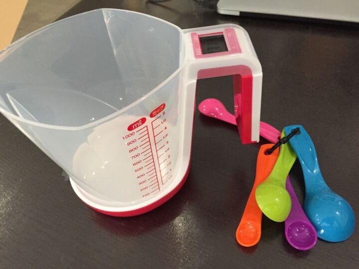 多利科(dretec)厨房秤电子秤1g计量杯称CS-100 红色 晒单图