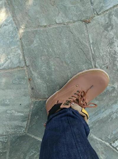 carme cat男靴马丁靴真皮工装靴冬季保暖棉鞋棉靴雪地靴户外工作鞋潮流男靴高帮男鞋棉靴 红棕色 40 晒单图