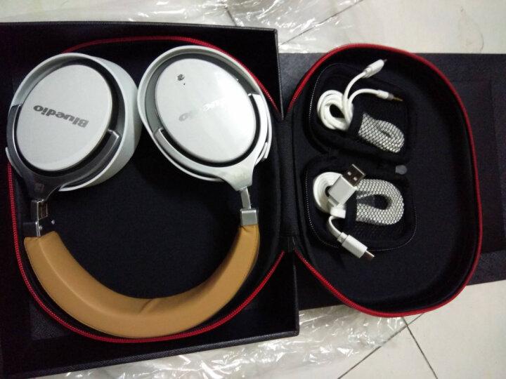Bluedio/蓝弦 F2代 头戴式蓝牙耳机 主动降噪无线耳麦有源消噪 白色 晒单图