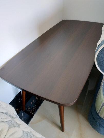 择木宜居 小户型茶几客厅边几简约角边桌 升级版深胡桃 ZJ18 晒单图