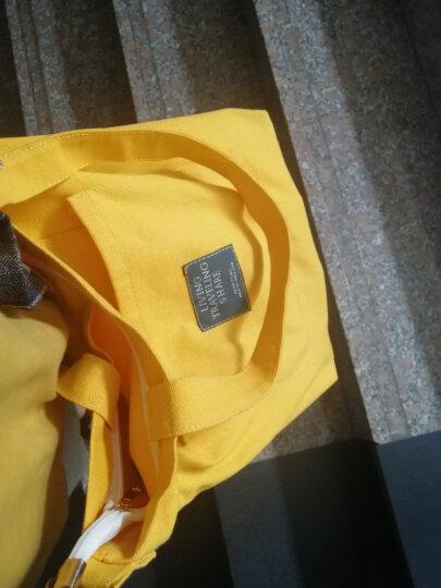 LIFEPOST帆布包女单肩学生文艺斜挎手提书包韩版学院简约L 黄色 肩带可拆卸三用款 晒单图