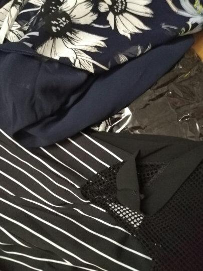 南极人 连衣裙 2018夏季新款韩版雪纺连衣裙 大码连衣裙假两件套装裙9819 藏青 L(105-115斤) 晒单图