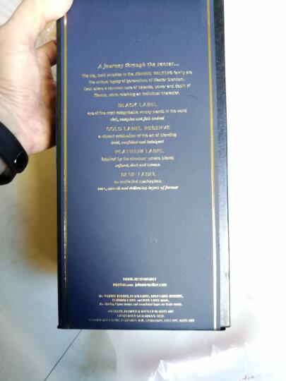 尊尼获加(JOHNNIE WALKER)洋酒 收藏系列调配型威士忌洋酒礼盒(蓝牌+黑牌+铂金+金牌)200ml*4瓶 晒单图