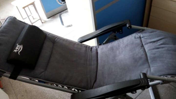午憩宝 配套躺椅棉垫 专用椅垫 折叠床垫 办公室躺椅垫子 麂皮绒棉垫-浅灰(不含躺椅) 晒单图