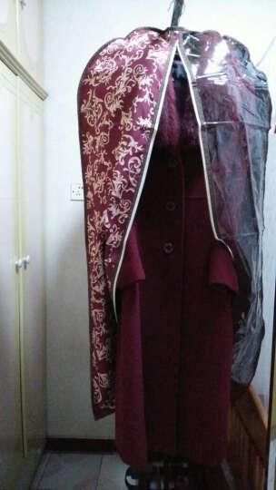 西文 衣服防尘罩 防尘袋 大衣罩 西装罩 可水洗 A款 镜花红 L(60*120CM) 晒单图