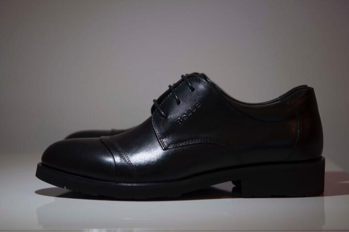 Belle/百丽专柜同款黑色牛皮男单鞋3UX01CM5 棕色 42 晒单图
