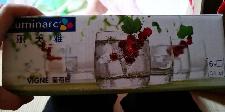 乐美雅 Luminarc 葡萄园直身杯无铅玻璃水杯茶杯啤酒杯饮料果汁杯 310ml 6只装 晒单图