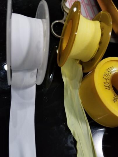 一靓 卫浴五金水龙头配件密封生胶带 管件卫浴配件水胶布加厚加宽生料带 B款 消防燃气用 8克 1卷16米黄色款 晒单图