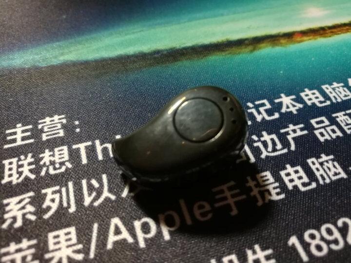 曼卡尔 苹果蓝牙耳机迷你超小隐形耳塞单耳无线入耳式运动适用苹果X/7/8/华为 炫酷黑 晒单图