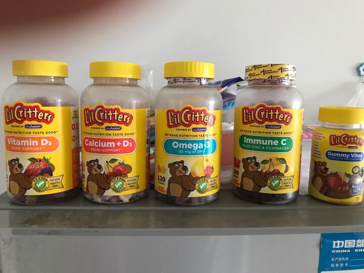 小熊糖 L'ilCritters 儿童营养维生素D3 促进骨骼生长水果味软糖 190粒 2岁及以上 晒单图