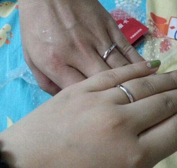 媚莉 情侣戒指s925银情侣对戒男女白银戒子可刻字一对价 男女一对(尺寸留言) 晒单图