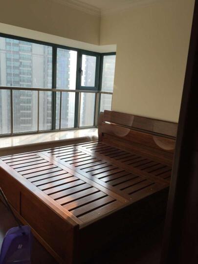 爱绿居 实木胡桃木四门衣柜组合 现代中式实木卧室家具 木质大衣柜 黄金胡桃木 四门衣柜 晒单图