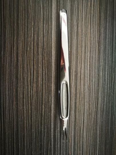 原装正品韩国777 硬指甲灰指甲锉 修甲锉 美甲搓 死皮刀去死皮叉修理角质 美甲工具 全钢银色V型死皮推 晒单图
