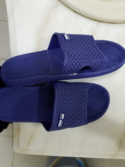 恋家 浴室地板拖情侣居家拖鞋男士 蓝色 41码 LJ82011 晒单图