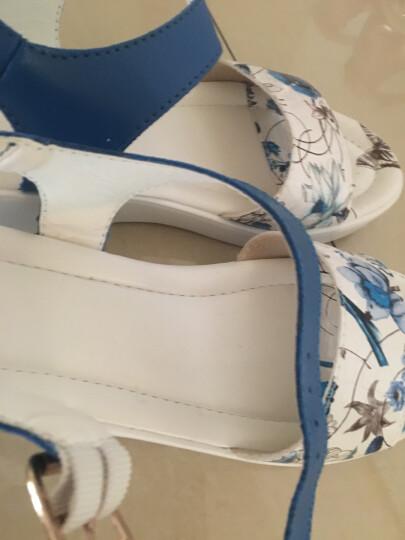 12夏季真皮少女孩韩版休闲平底防滑罗马凉鞋女11初中学生大童15岁新款公主鞋 白色 36 晒单图