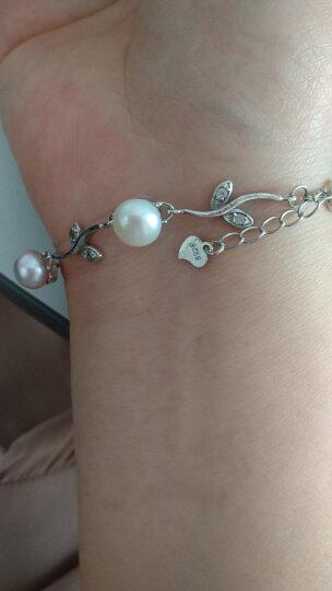 零点在线 925银珍珠手链 淡水珍珠手链女款 珠宝首饰 可调节长度 心恋珍珠手链 晒单图