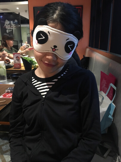 Sheepet舒宠软体公仔 可调节护眼罩 睡眠 遮光男女士可爱睡觉透气 包子熊猫眼罩 晒单图