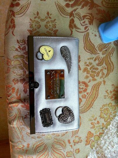 LOLLIPOPS法国棒棒糖欧美时尚徽章长款钱包女 手拿钱包女长款多卡位搭扣 银色 Silver 晒单图