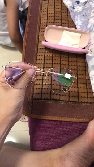费启鸣男女同款防辐射防蓝光眼镜框手机电脑护目镜网红素颜女大框平光眼镜架潮 可配近视眼镜 金框 晒单图
