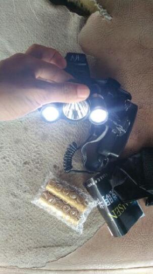 PAISEN 三核LED充电强光头灯 骑行灯 户外远射探照矿灯 升级套装 含4节粉电池 晒单图