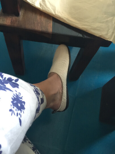 驰轩 2018新款帆布鞋男休闲麻鞋英伦青年时尚学生帆布鞋潮懒人鞋 S118天蓝色 44尺码偏小建议选大一码 晒单图