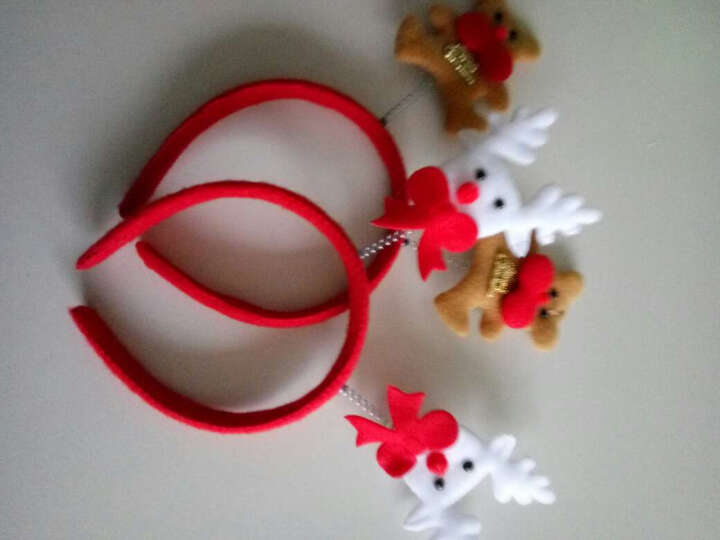 仕彩 圣诞节装饰品圣诞节发光头饰发卡大人儿童装扮圣诞节装饰圣诞节装饰 白熊 晒单图