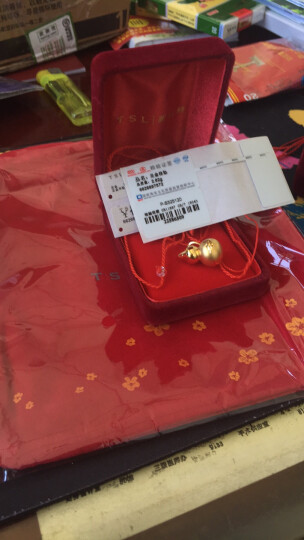 【年货节】TSL谢瑞麟黄金吊坠女款 3D硬金如意平安葫芦足金项链挂坠 XH114 定价金 约2.43克 晒单图