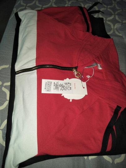 卓奈cholenite 运动服套装女士夏2018春秋修身显瘦卫衣两件套跑步休闲套装 长袖 大红-黑色 3XL [建议135-145斤] 晒单图