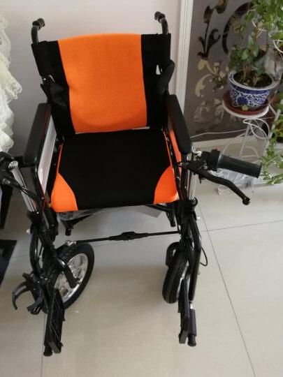 晨越 TH108电动轮椅车老年人电动代步车残疾人轮椅车折叠轻便带坐便 泰合TH108标配24V12A超威铅酸电池 晒单图