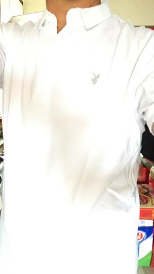 花花公子男士短袖T恤2018夏季时尚休闲纯色POLO衫T恤纯棉翻领打底衫男装半袖加大码 灰色 185/100A 晒单图