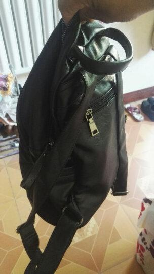 米虫 2017潮新款双肩包女韩版背包女休闲旅游旅行包大容量学院风书包包 黑色 晒单图