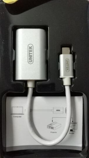 优越者(UNITEK)MiniDP转VGA转换器 苹果雷电接口vga转接器 迷你Displayport电脑显示器连接线白色Y-6336WH 晒单图