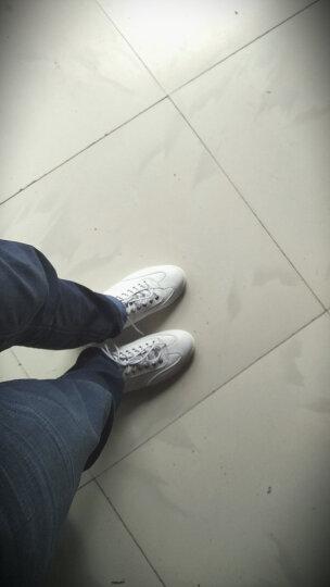 兽霸男鞋 休闲鞋小白鞋男士夏季新款透气系带真皮板鞋子男韩版潮流 白色 41 晒单图
