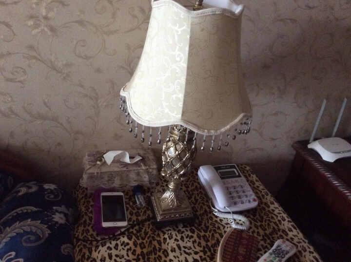 络曼(LUOMAN)礼品礼物创意定制欧式卧室床头台灯美式乡村客厅复古节日装饰台灯 EA2034-C  大号流苏 晒单图