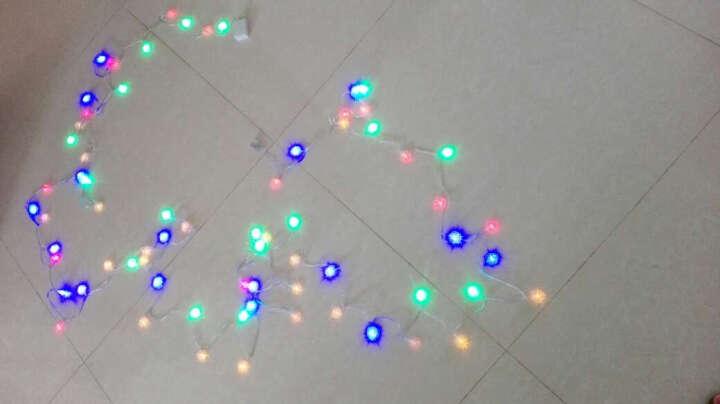 欢乐派对年会用品节日圣诞彩灯led灯串 婚庆节日装饰布置彩灯带尾插LED彩灯串灯 五角星 圣诞树款 7米50头 晒单图