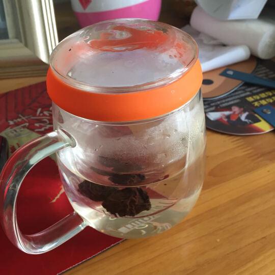 乐怡(vatiri) 情侣杯男女玻璃水杯 玻璃杯带茶漏隔热泡茶杯子 男-橘子橙 晒单图