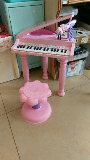 育儿宝 儿童电子琴钢琴1-3-6岁男孩女孩宝宝音乐玩具 拍拍鼓电子琴【粉色】 晒单图