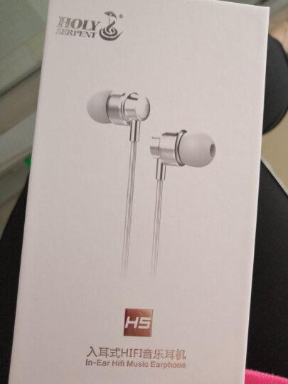 蛇圣(Holy serpent) H5耳机入耳式重低音手机魔音耳塞电脑小米华为苹果通用型线控带麦K歌 银白色调音版-带麦 晒单图
