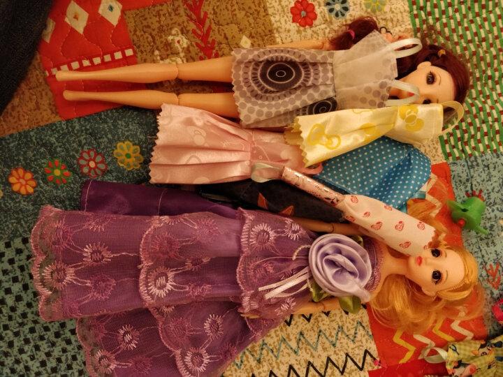【送豪礼】芭比娃娃套盒情景玩具屋女孩换装芭比娃娃套装礼盒12关节3D真眼美瞳多套衣服洋娃 K1 古装娃娃套装 晒单图