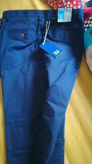 HLA海澜之家春季热卖中腰直筒水洗男士牛仔长裤HKNAW3N001Y 牛仔蓝(01) 牛仔蓝(01) 175/82A 晒单图