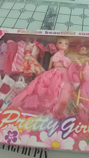 送154件套娃娃玩具套装大礼盒女孩过家家情景玩具婚纱公主换装3D美瞳12关节可动儿童节生日礼物 E4款3D真眼+12关节可动+154件套 晒单图