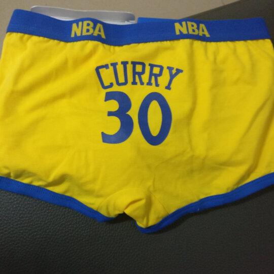 NBA男士内裤 长绒棉透气平角内裤 球迷四角篮球内裤单条礼盒装 火箭队13号哈登 XL 晒单图