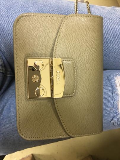 FURLA 芙拉 女士FURLA METROPOLIS系列卡其色牛皮金色链条单肩包斜挎包 884889 晒单图