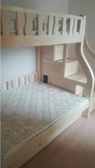 大梵林 儿童床 松木高低床子母床 实木双层床上下铺床 母子床带梯柜 组合床木架子床 双层床带梯柜+床底抽屉 1500*2000 晒单图