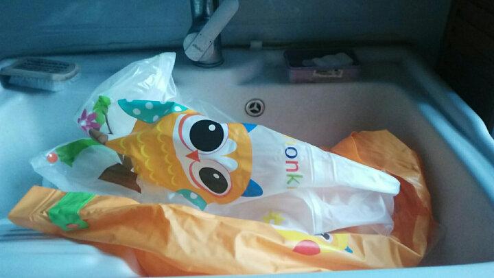 柠檬宝宝lemonkid学生充气帽檐韩版雨衣雨披男女儿童带书包位雨衣环保LE201504橘黄色猫头鹰XS 晒单图