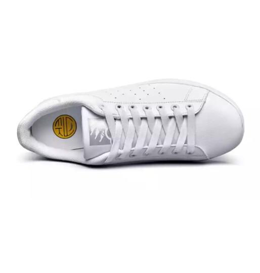 意尔康休闲运动女款板鞋 2018春季新款 低帮舒适滑板鞋情侣款小白鞋E7104301 白/草绿 36 晒单图